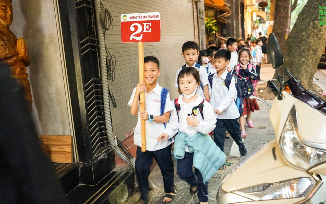 """Hưởng ứng Tuần lễ """"Gia đình cùng trẻ em đi bộ tới trường an toàn"""""""