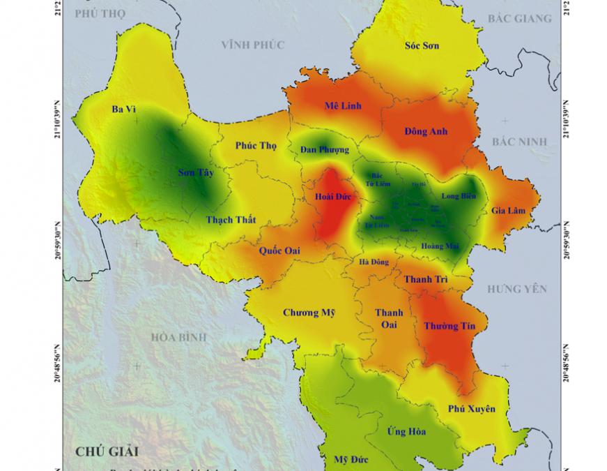 Nghiên cứu Kiểm kê phát thải do hoạt động đốt rơm rạ trên địa bàn thành phố Hà Nội vụ Đông Xuân năm 2021