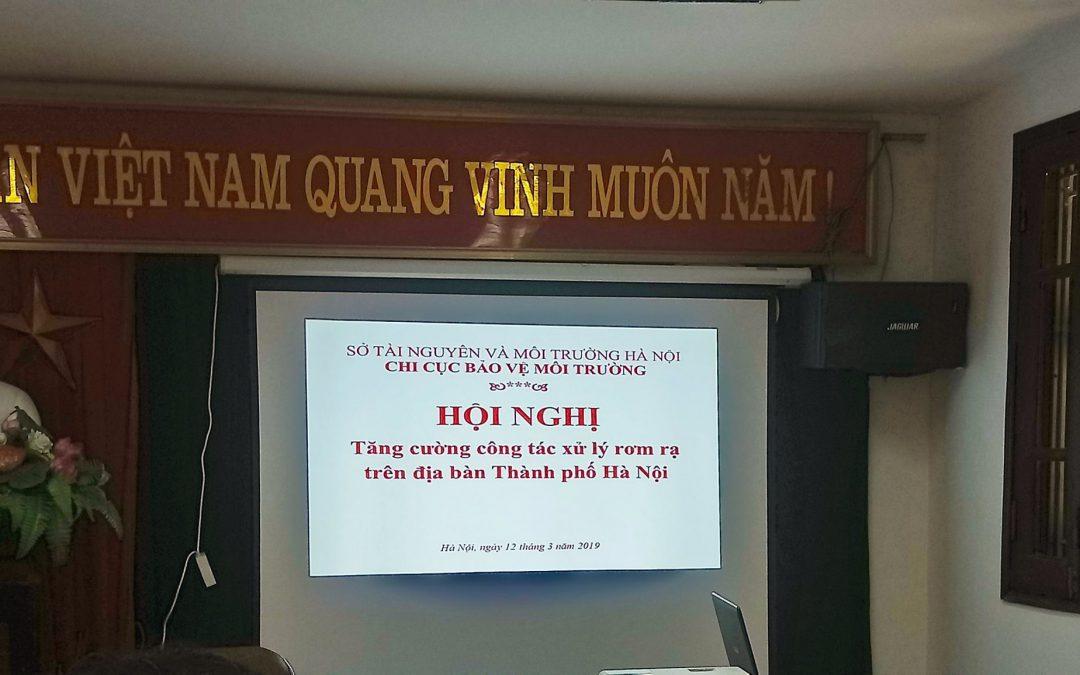 """Hội Nghị """"Tăng cường công tác xử lý rơm rạ trên địa bàn TP Hà Nội"""""""