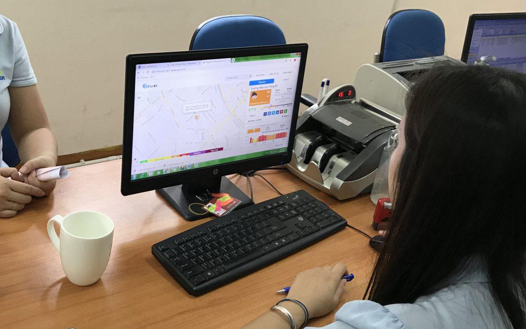 HOẠT ĐỘNG XANH | Máy đo chất lượng không khí Fairkit tại trường Mầm non Trăng Đỏ.