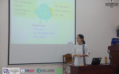 Hoạt động Xanh|Tập huấn cuộc thi Tranh biện HPU Debate Tournament 2019