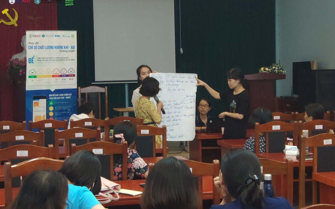 Tập huấn giáo viên tại trường THCS Nam Từ Liêm