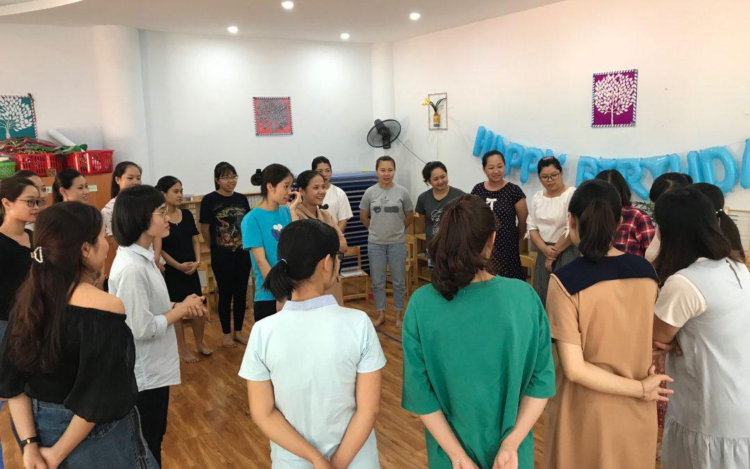 Tập huấn giáo viên tại trường Mầm non Trăng Đỏ 21/9/2019