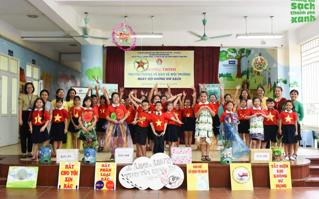 Ngày hội không khí sạch| Trường Tiểu học Chương Dương chung tay vì bầu không khí sạch