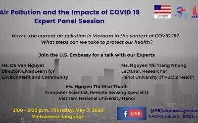 """Hội thảo trực tuyến """"Ô nhiễm không khí và ảnh hưởng của COVID-19"""""""