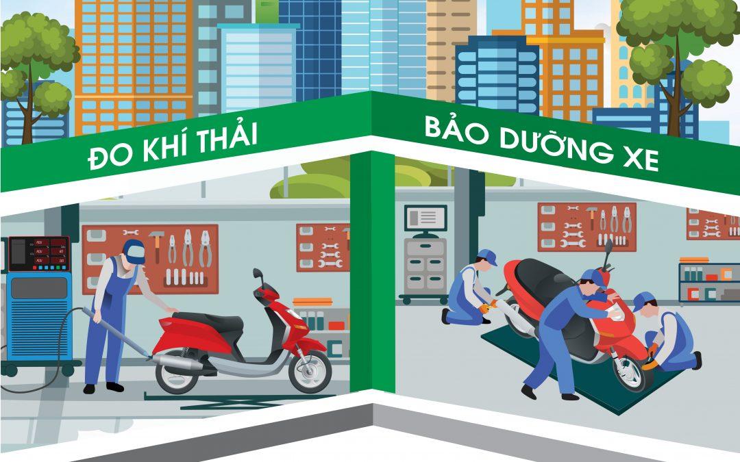 Đăng ký tham gia Chương trình kiểm tra khí thải xe mô tô, xe gắn máy đang lưu hành trên địa bàn thành phố Hồ Chí Minh