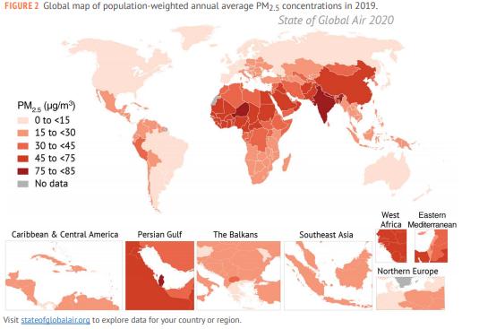 Các nghiên cứu nổi bật về ô nhiễm không khí trên thế giới Quý IV/2020