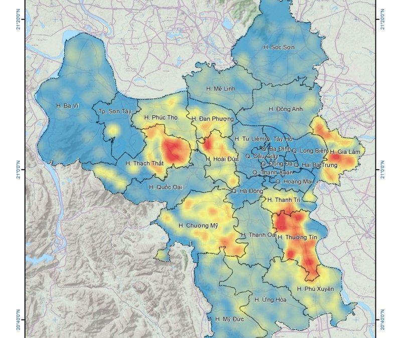 """Báo cáo tổng kết đề tài """"Xây dựng Bản đồ về khối lượng rơm rạ thải bỏ ngoài đồng ruộng trên địa bàn thành phố Hà Nội; Xây dựng bản đồ lan truyền chất ô nhiễm phát sinh từ hoạt động đốt rơm rạ"""""""