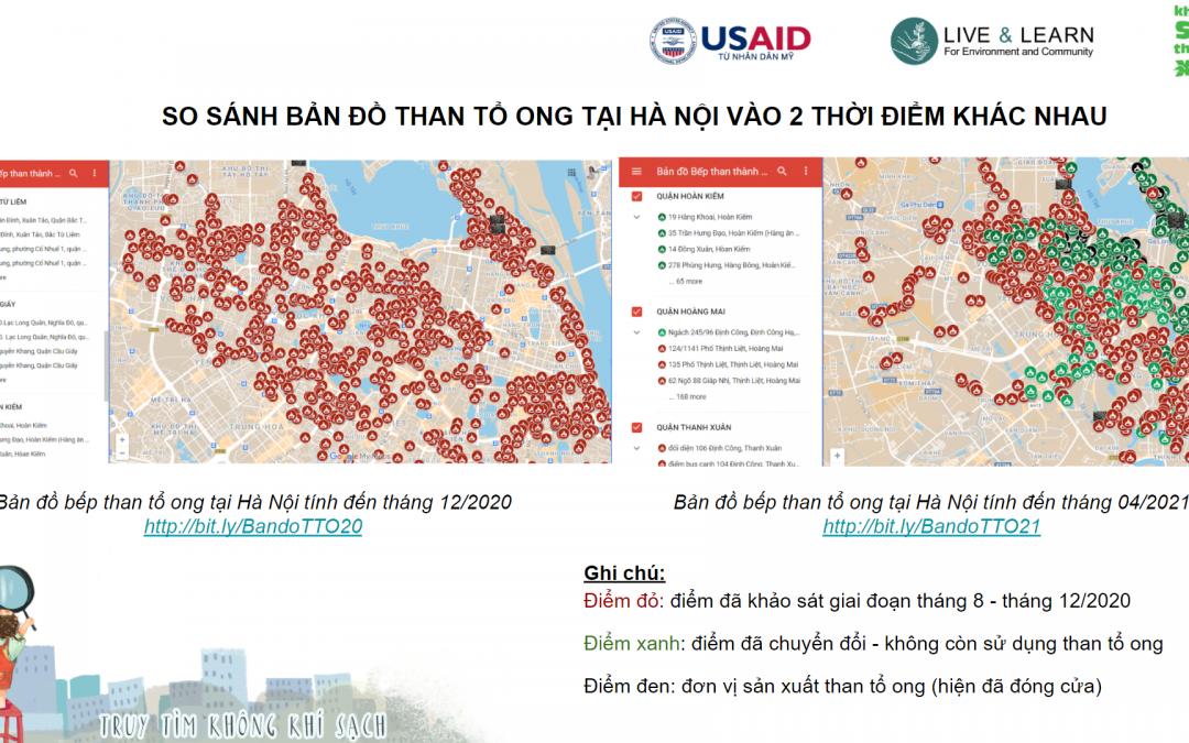 Toàn thành phố Hà Nội giảm 96% số bếp than tổ ong trong sinh hoạt và kinh doanh dịch vụ