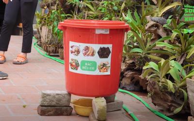 Hướng dẫn xử lý rác hữu cơ bằng vi sinh trong thùng ủ
