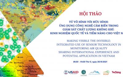 """Hội thảo: """"Từ vô hình tới hữu hình – Ứng dụng công nghệ cảm biến trong giám sát chất lượng không khí: Kinh nghiệm quốc tế và tiềm năng cho Việt Nam"""""""